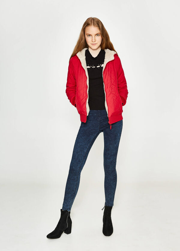 Quilted jacket with fur | OVS