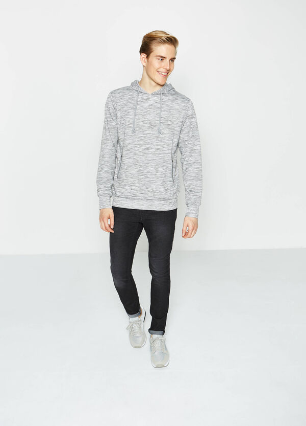 Cotton blend mélange sweatshirt