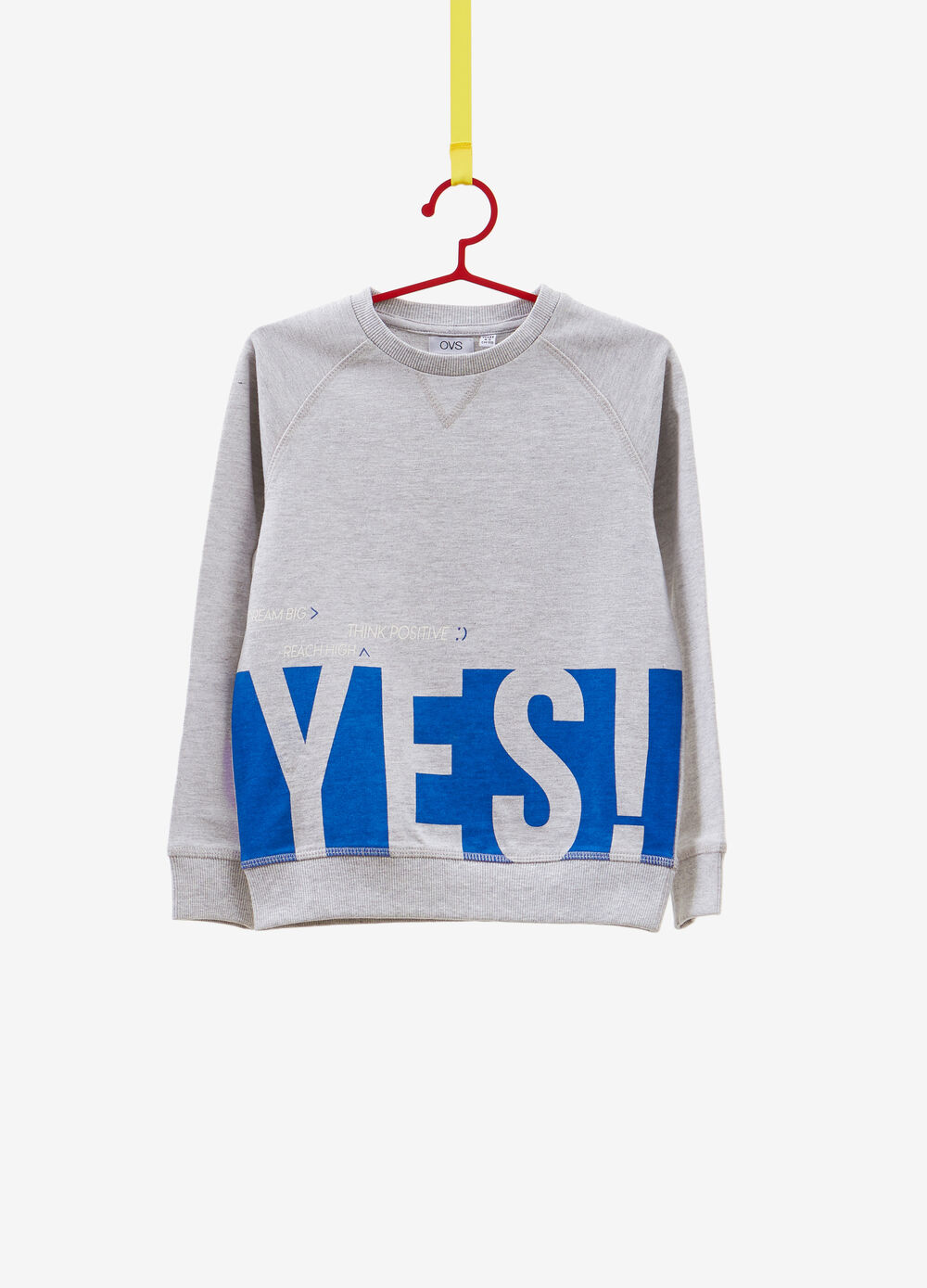 Cotton blend sweatshirt with lettering