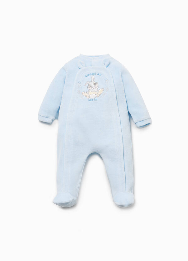 Cotton blend onesie with Thumper patch