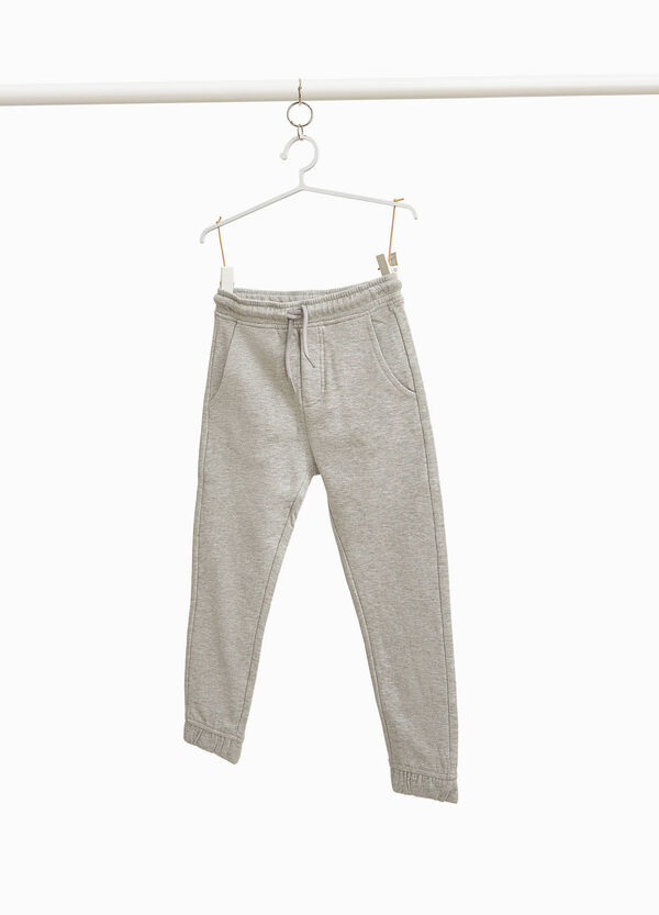 Cotton joggers with patches