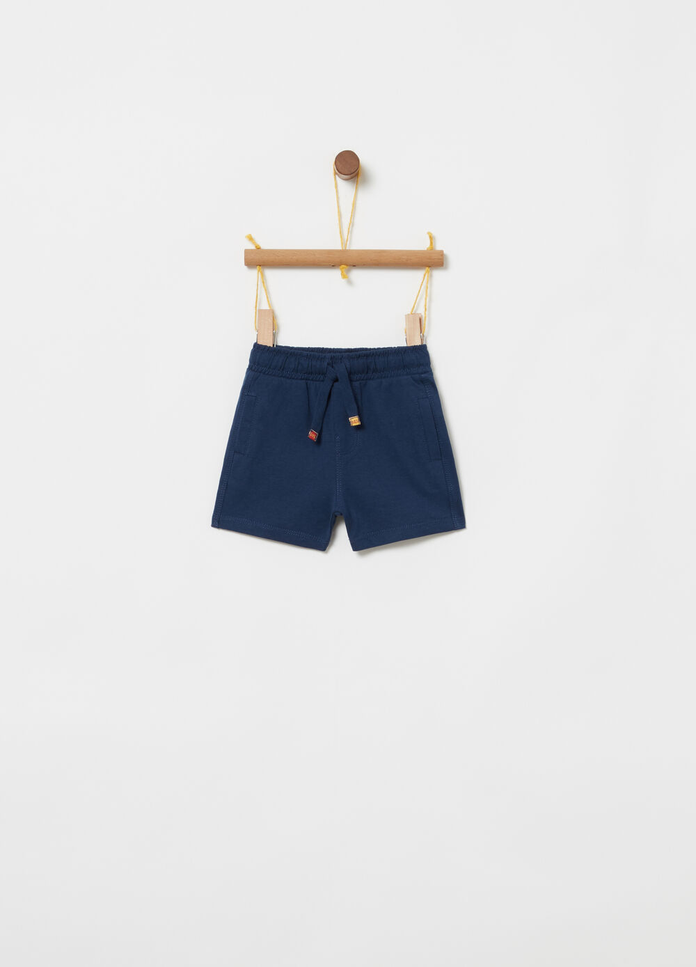 100% cotton jersey shorts with drawstring