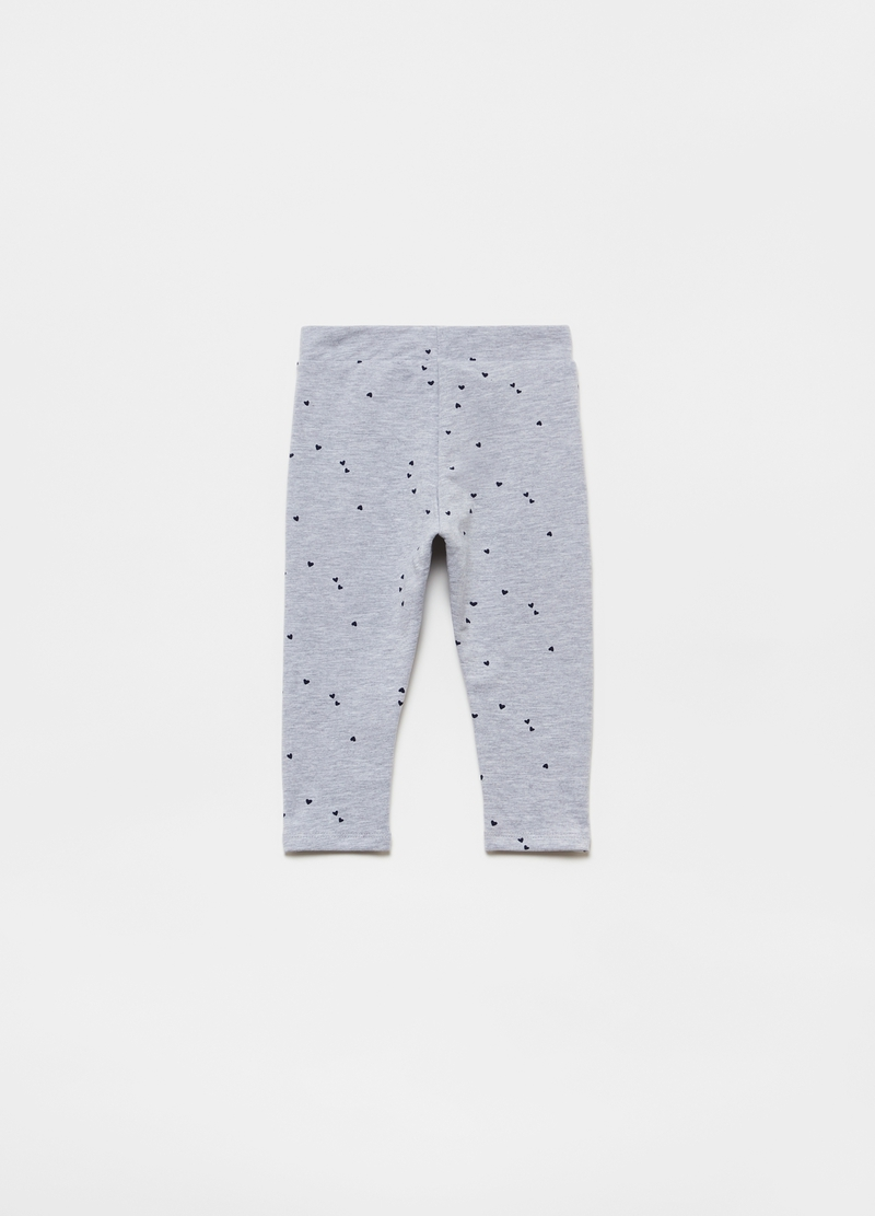 Organic cotton and viscose joggers with print image number null
