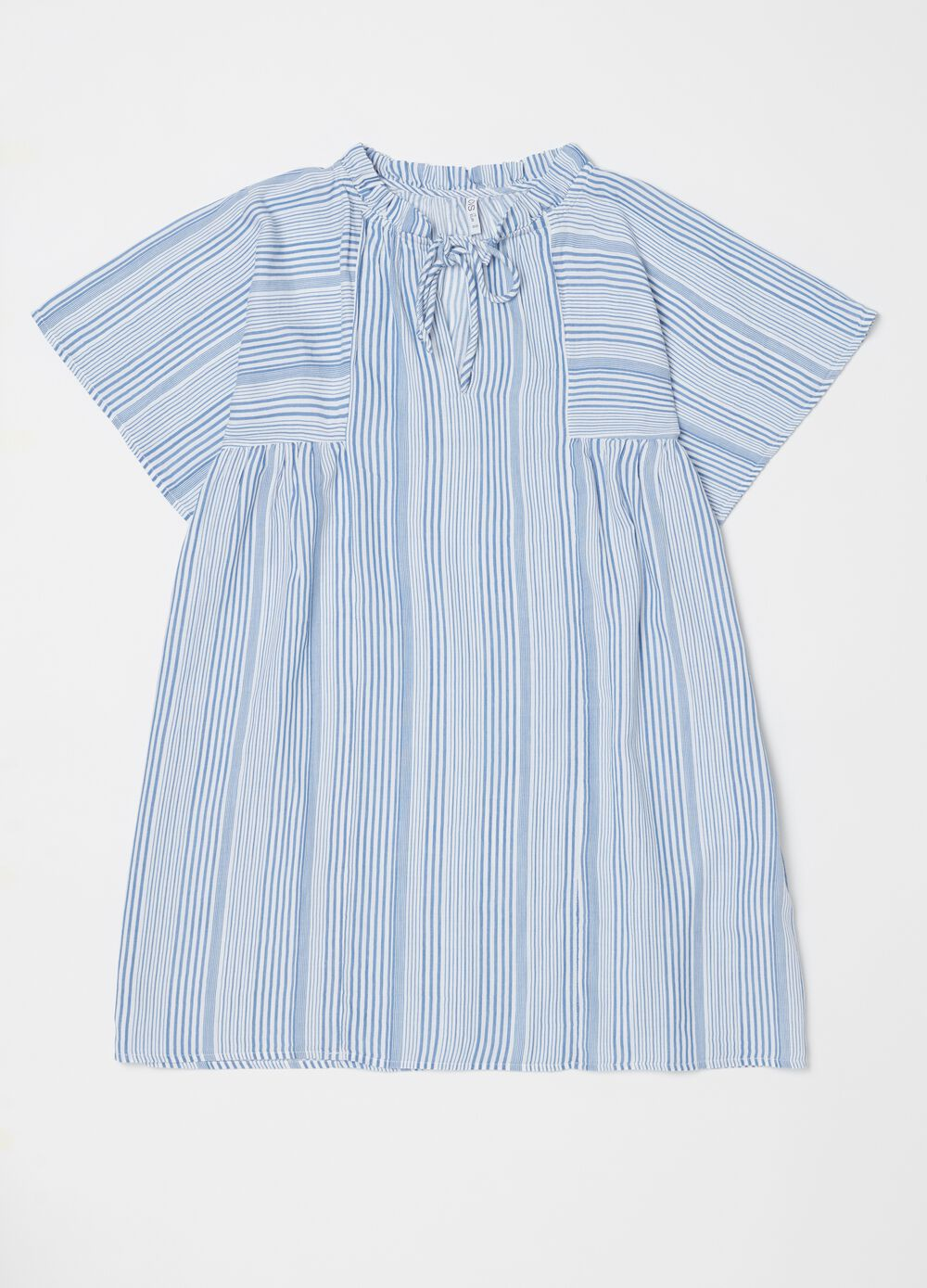 Nightshirt with stripes and drawstring