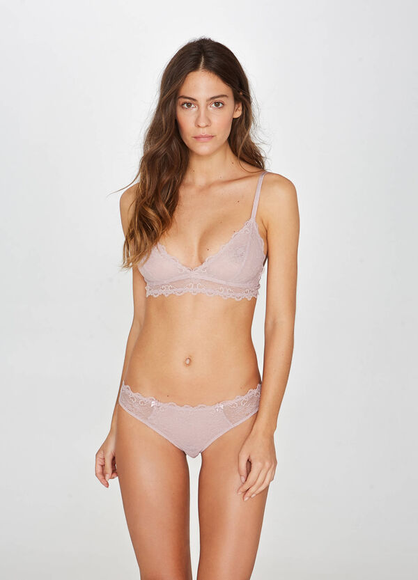 Reggiseno soft pizzo stretch