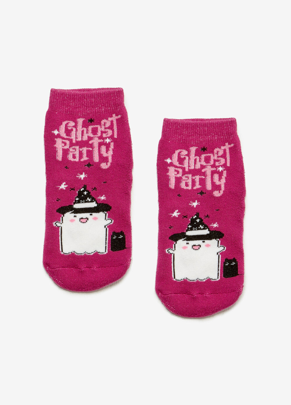Short slipper socks with ghost print