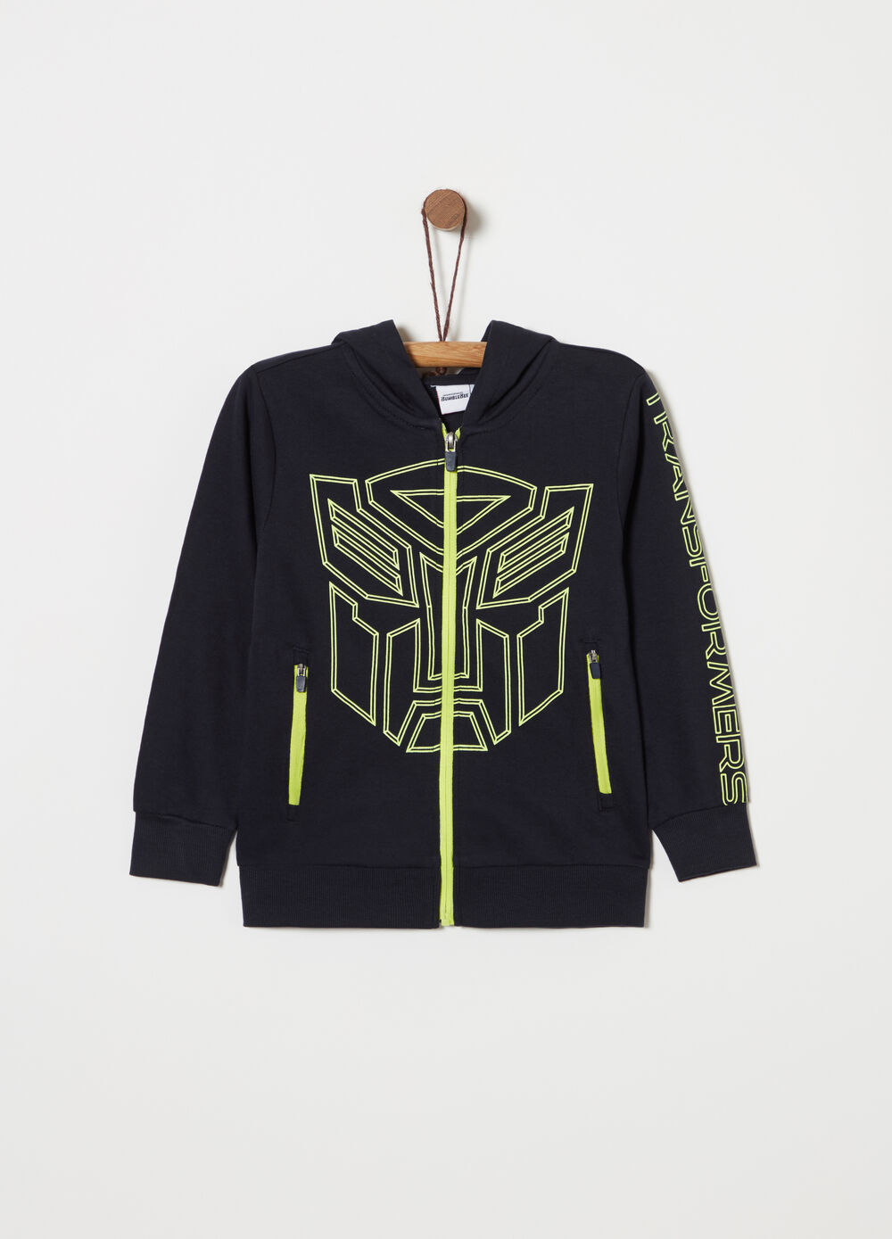 Full-zip lightweight Transformers sweatshirt