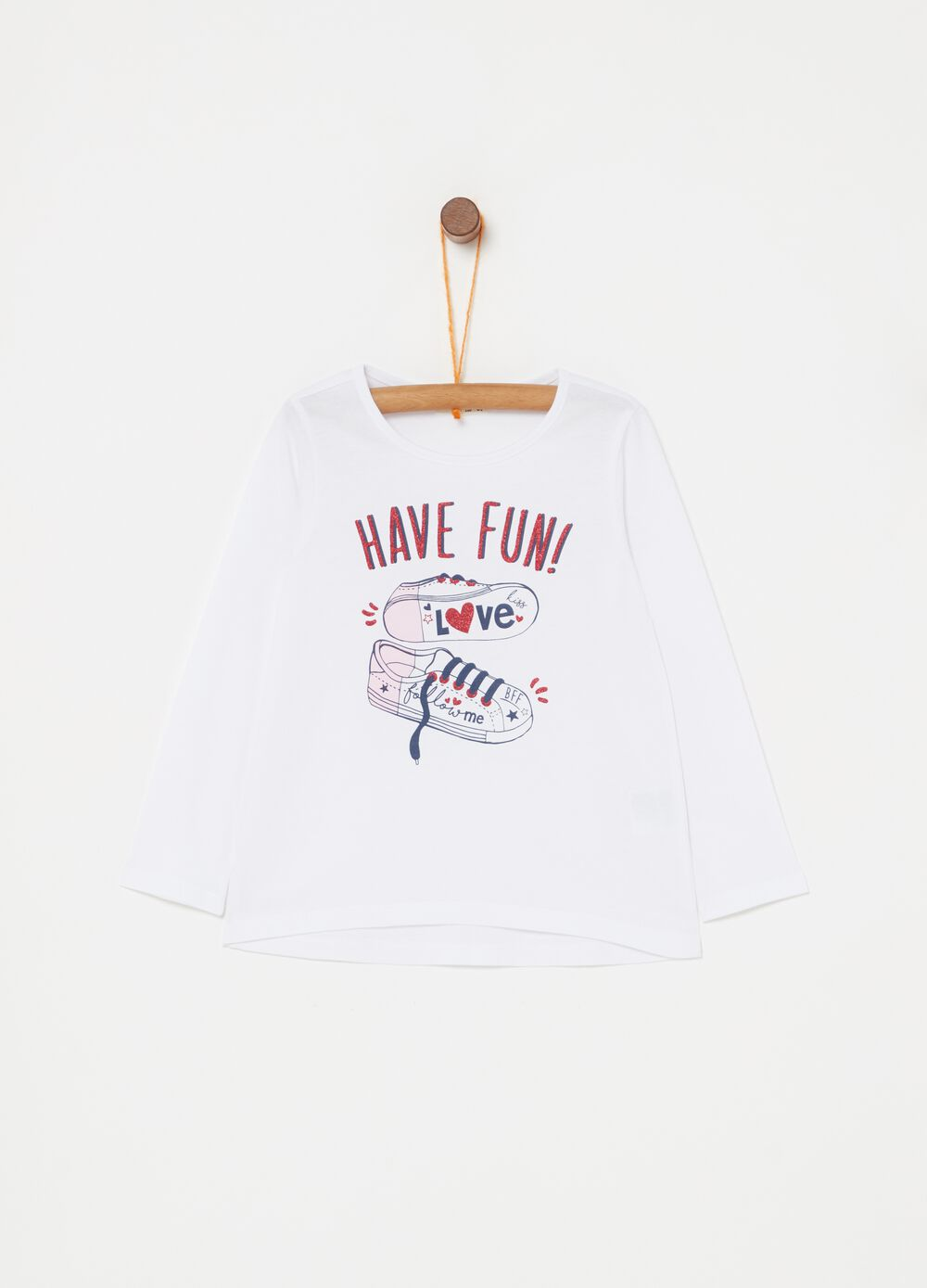 100% cotton T-shirt with sneakers print