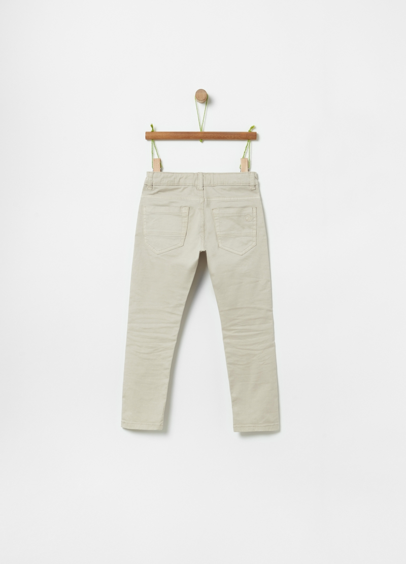100% organic cotton trousers with five pockets image number null