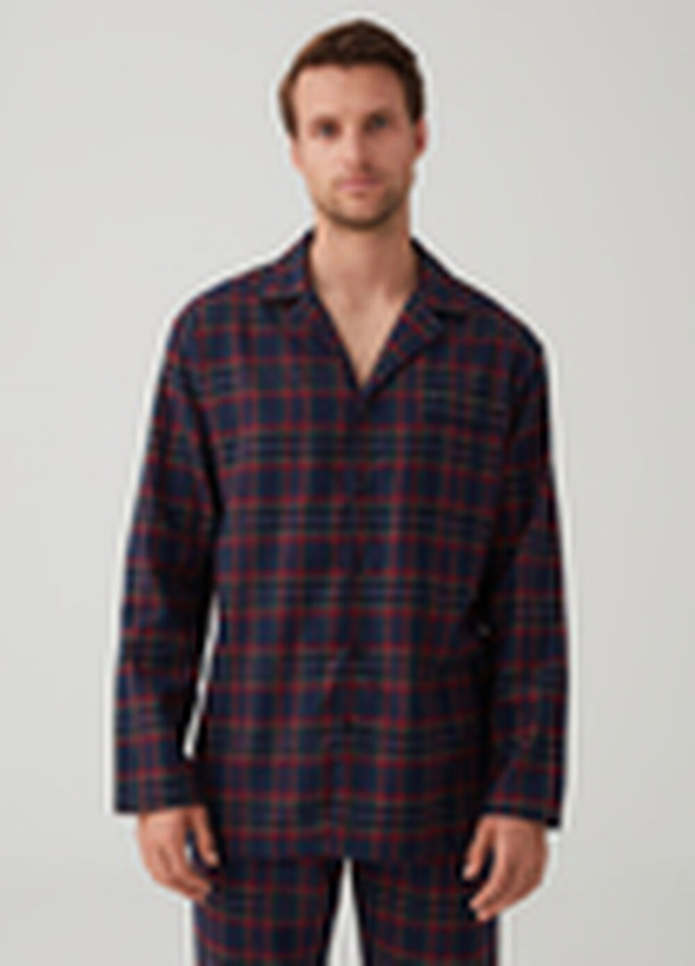 Flannel pyjamas with check pattern