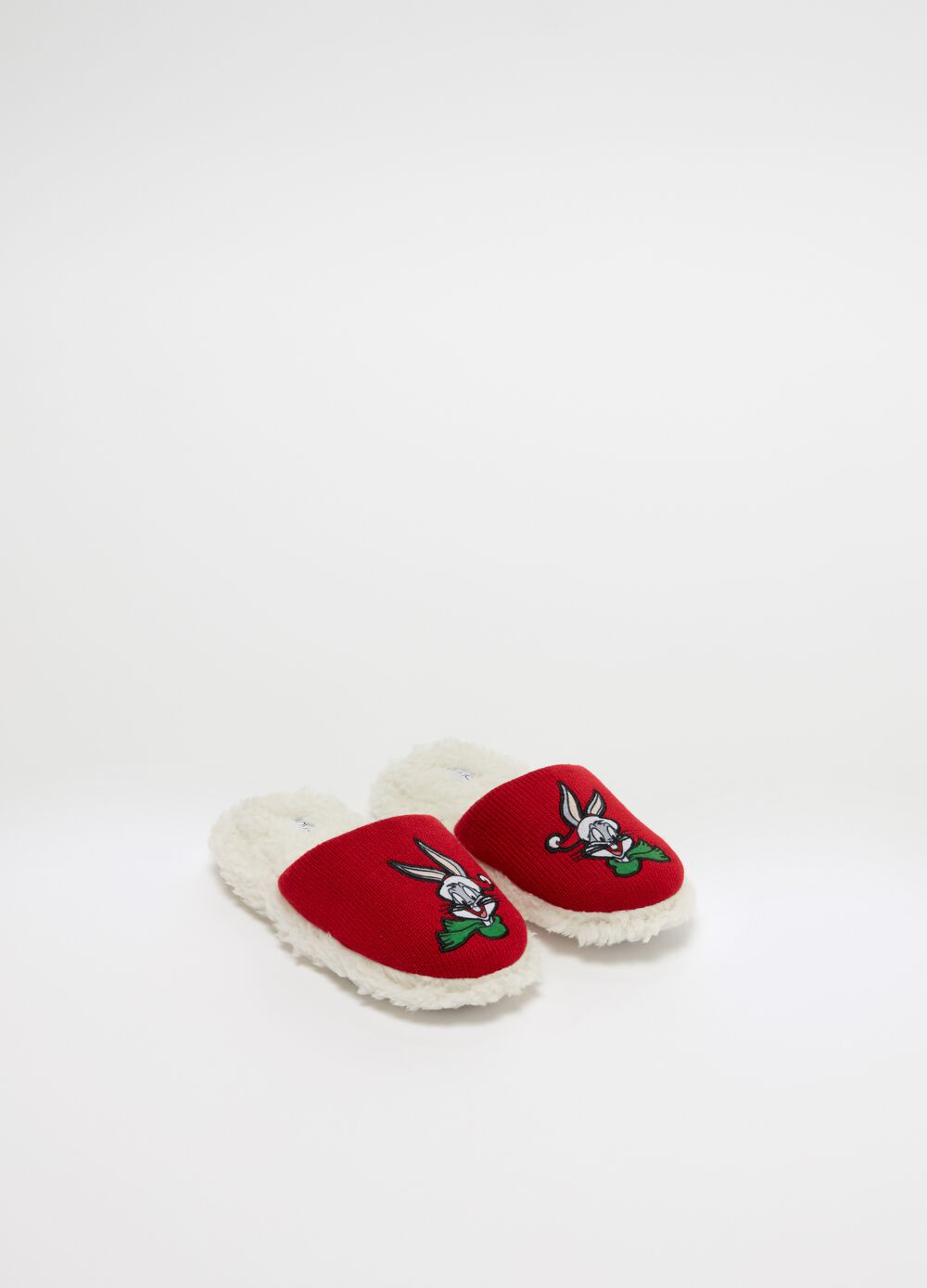 Slippers with Warner Bros embroidery