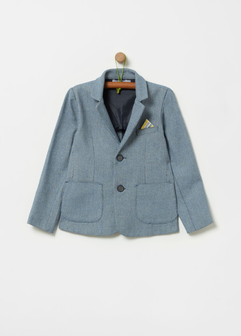 Jacket with handkerchief and lapels