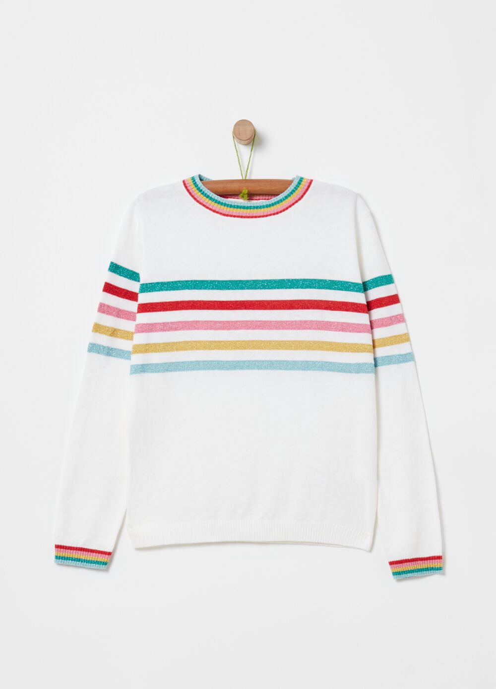 Top with stripes and lurex