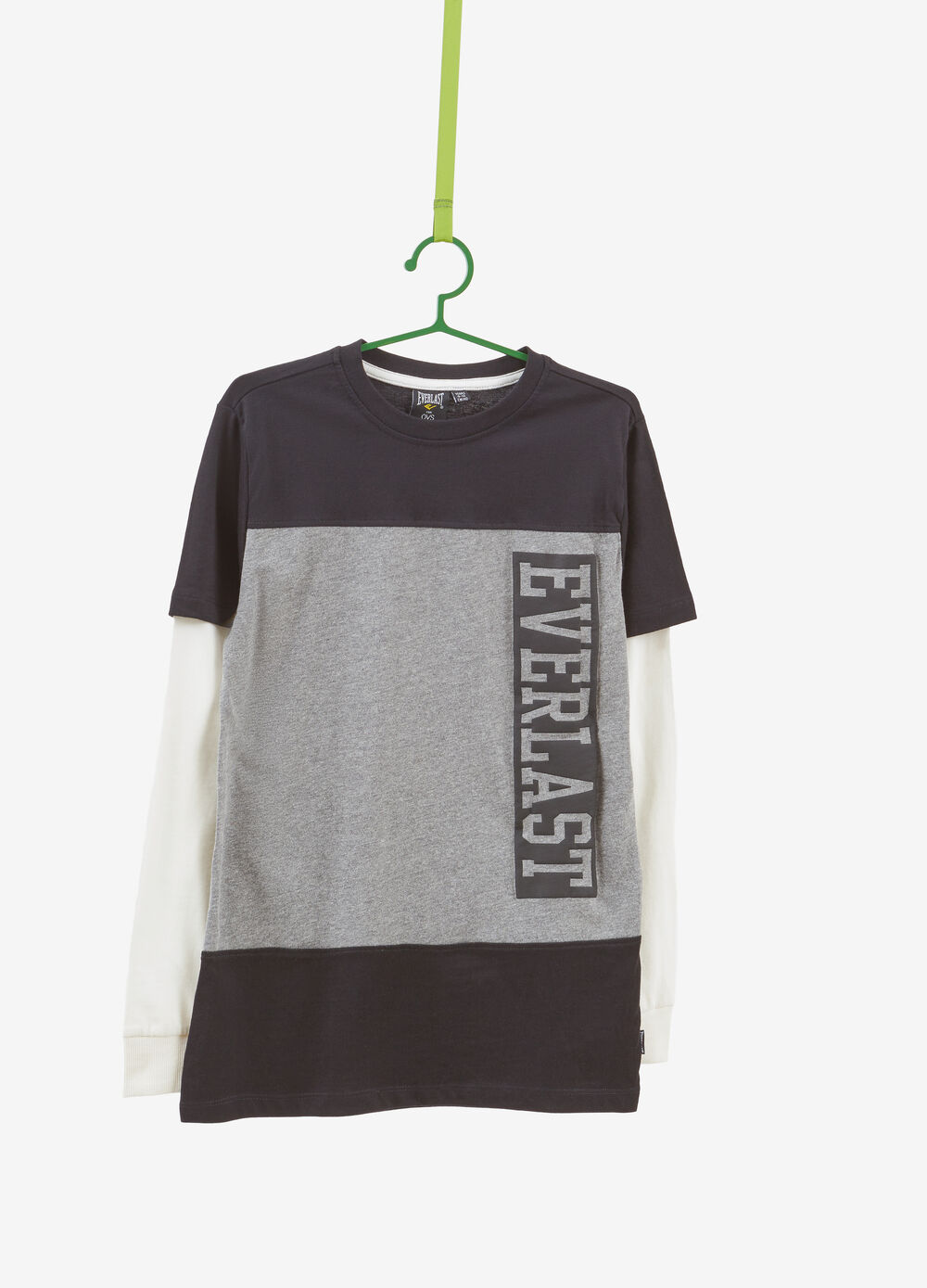 Everlast two-tone T-shirt in 100% cotton