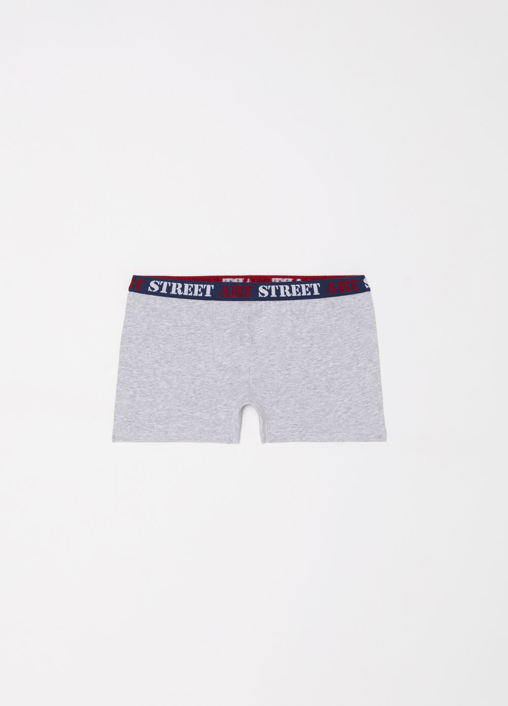 Stretch organic cotton boxers with print