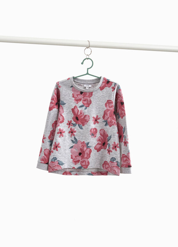 100% cotton floral sweatshirt
