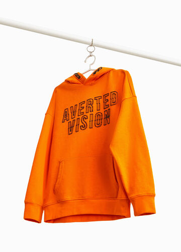 Cotton blend sweatshirt with printed lettering