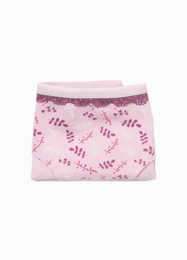 Floral patterned briefs in stretch cotton | OVS