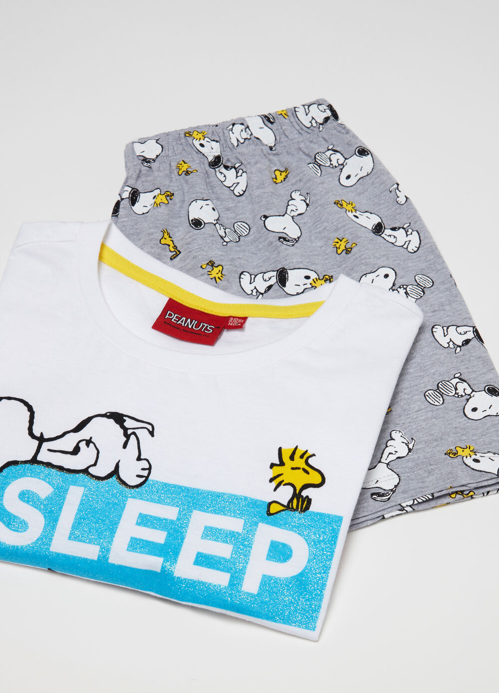 Pigiama in jersey t-shirt shorts Snoopy