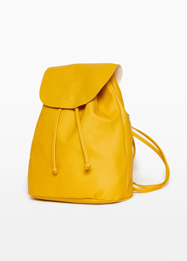 Solid colour unlined backpack