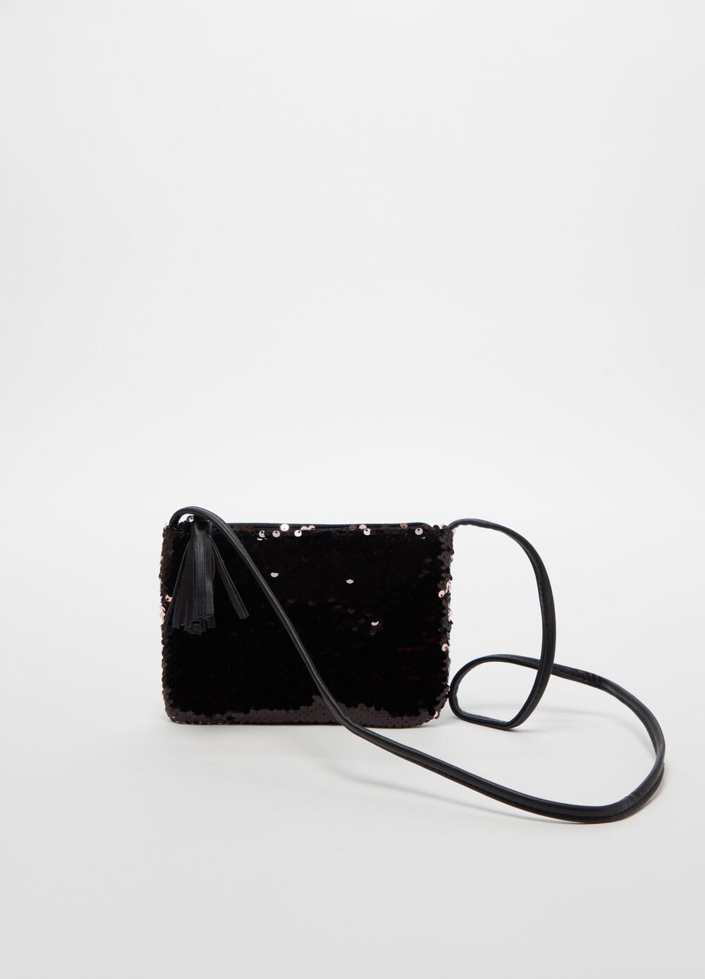 Shoulder bag with sequins