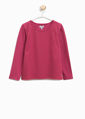T-shirt with dotted weave