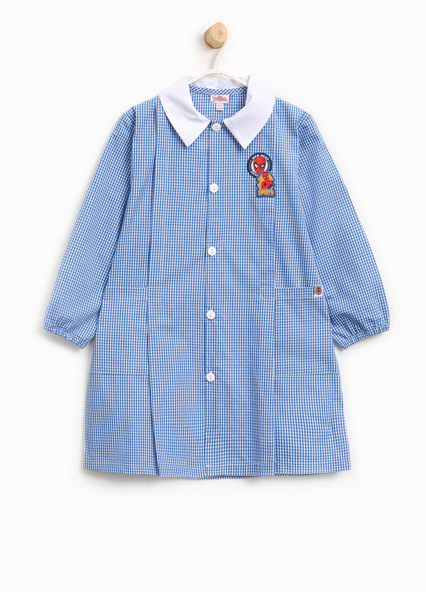 Micro check smock with Spiderman patch | OVS