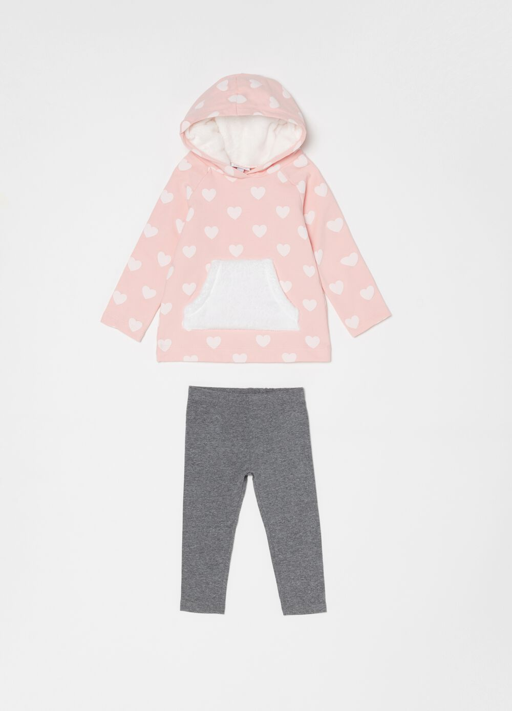 Set felpa e leggings cotone bio stretch
