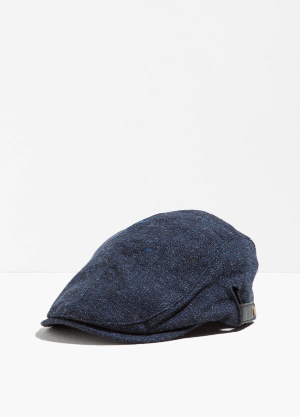 Denim flat cap with straps and buttons | OVS