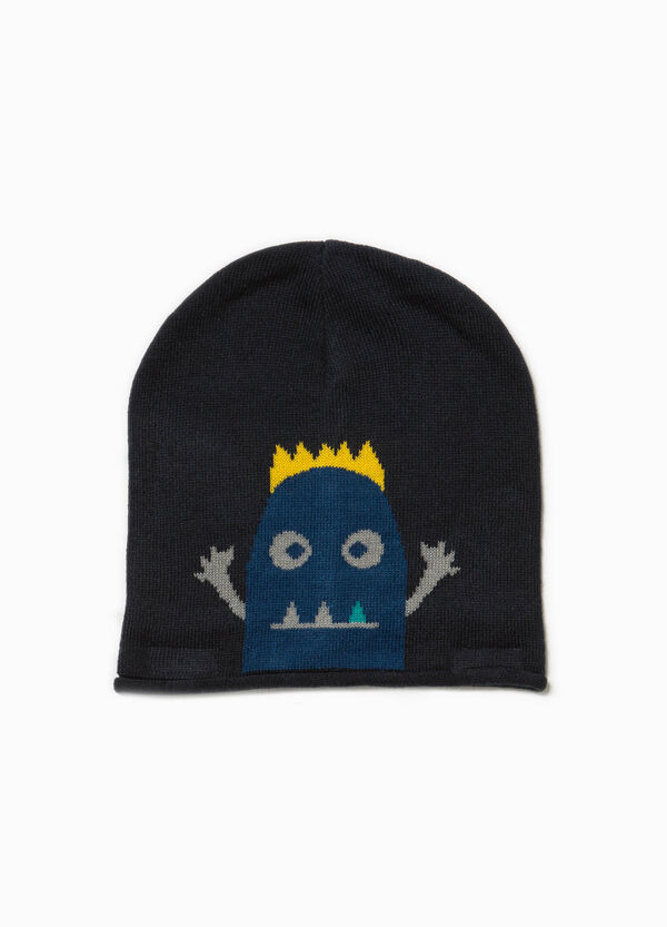 Beanie cap with embroidered animal | OVS