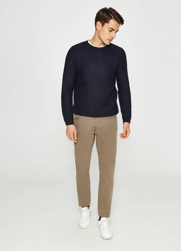 Regular-fit trousers in 100% cotton | OVS