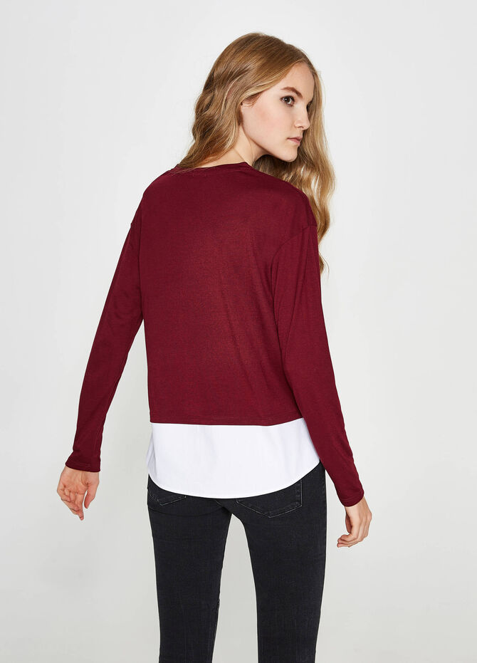 Viscose and cotton T-shirt with patch