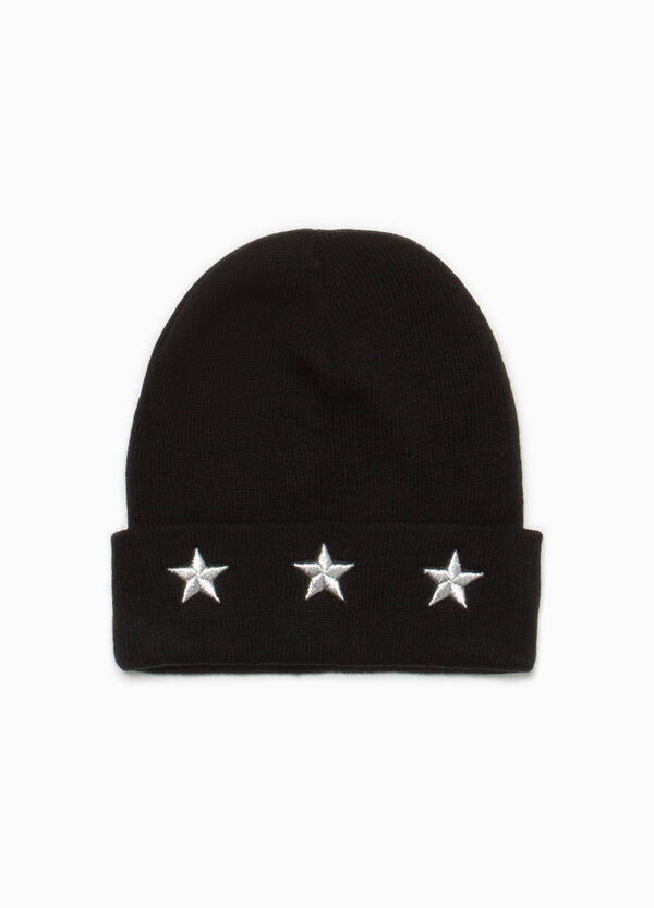 Beanie cap with star embroidery | OVS