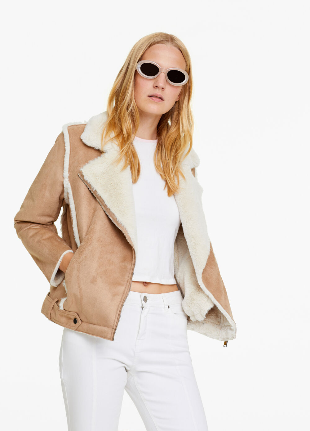 Jacket with faux fur lining