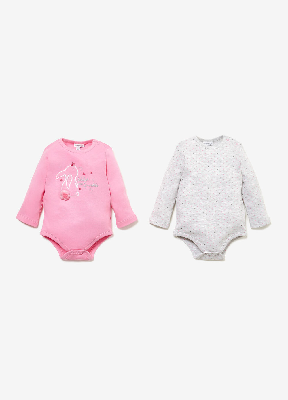 Two-pack bodysuits in cotton
