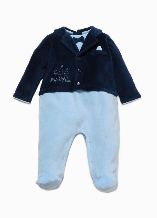 Onesie with feet, jacket and embroidery | OVS