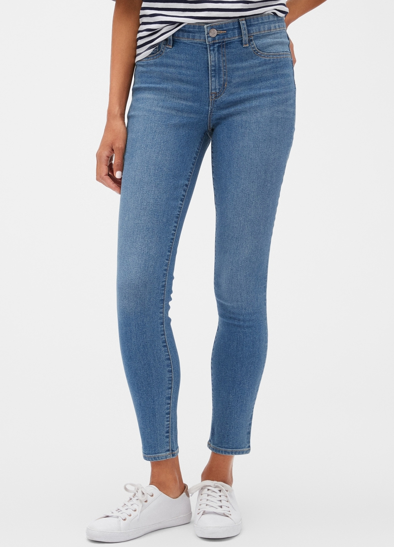 GAP stretch crop jeggings image number null