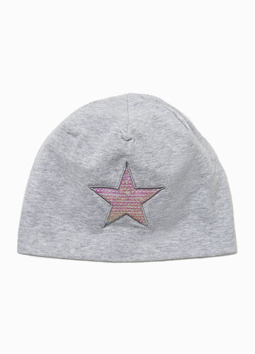 Beanie cap with star patches
