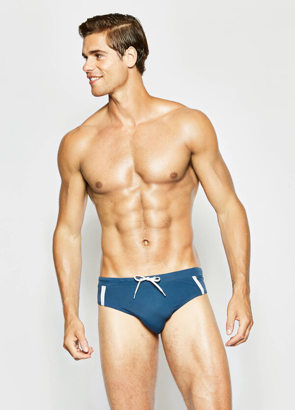 Swim briefs with contrasting bands | OVS