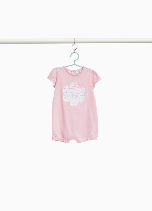 Lettering sleepsuit in cotton