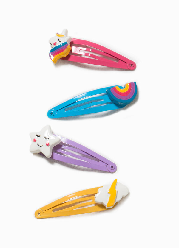 Set of four hair clips with inserts | OVS