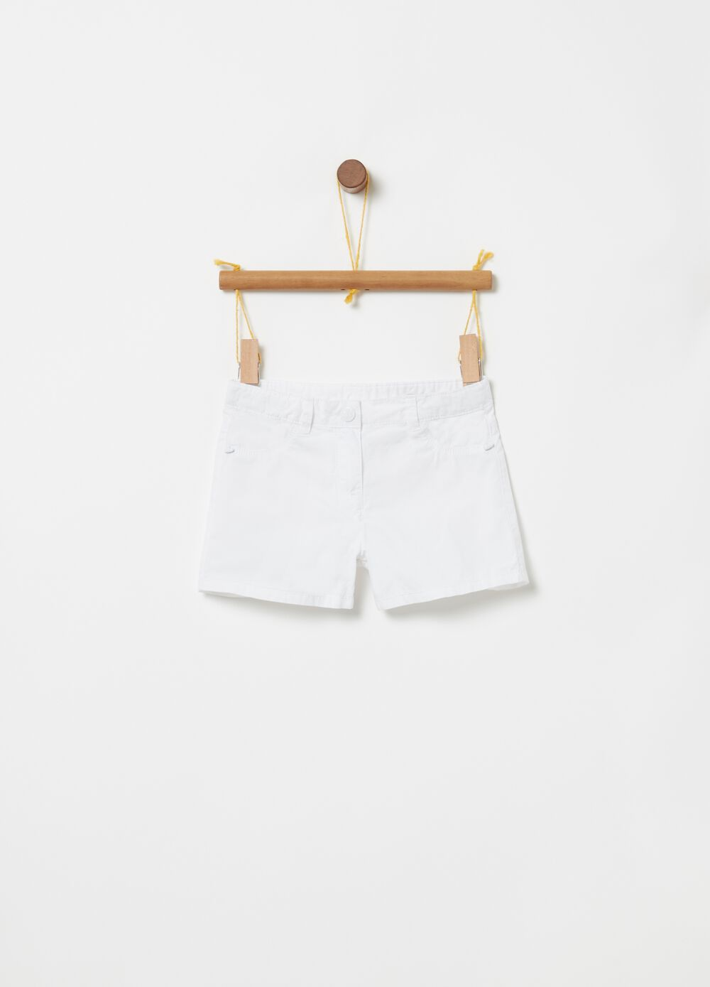 100% cotton shorts with pockets