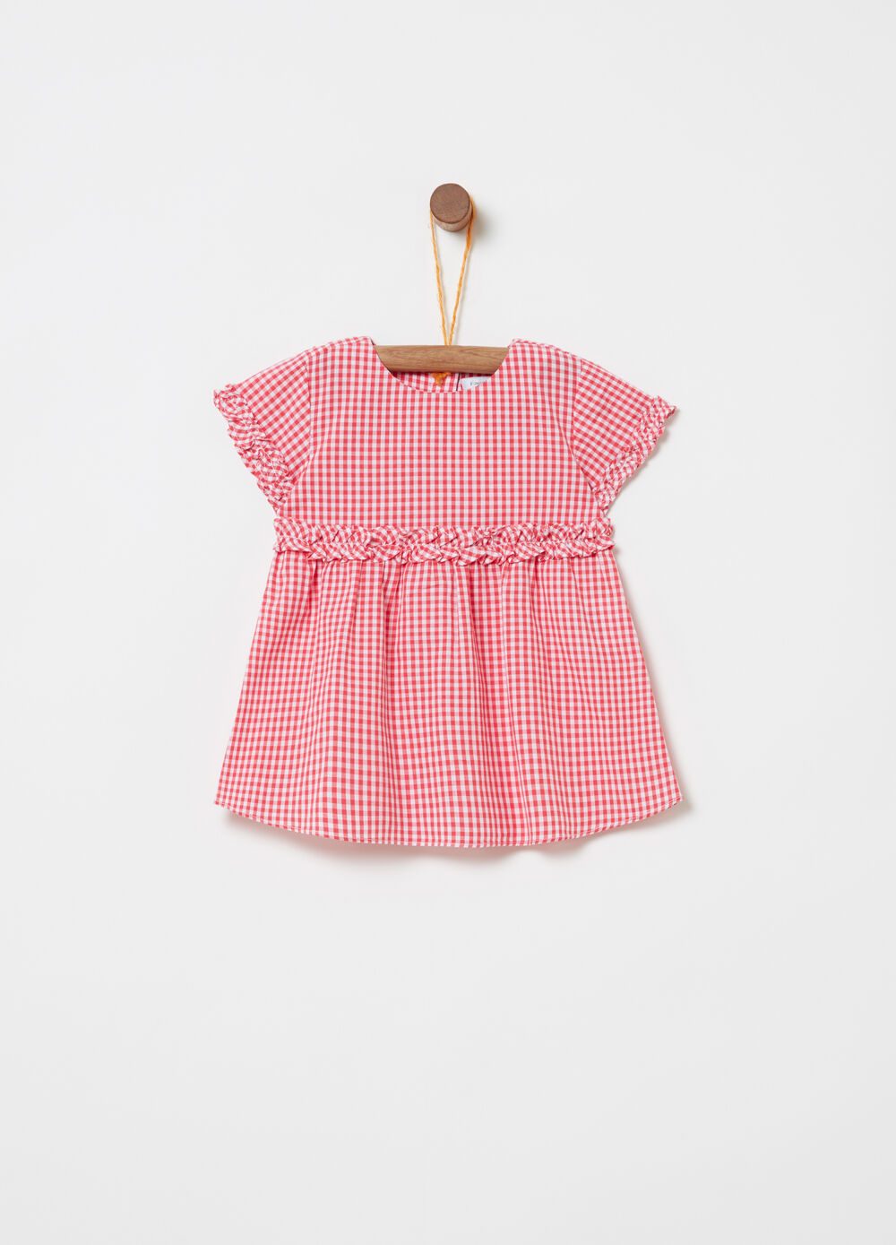 BCI shirt with check frills