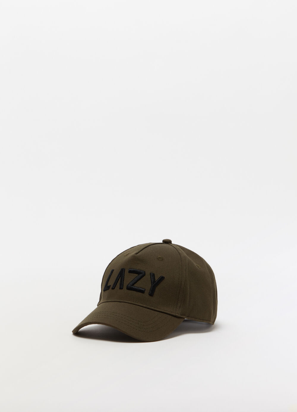 Baseball cap with 3D embroidery and buckle