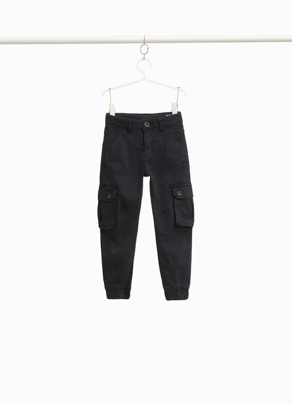 Cargo trousers in cotton twill