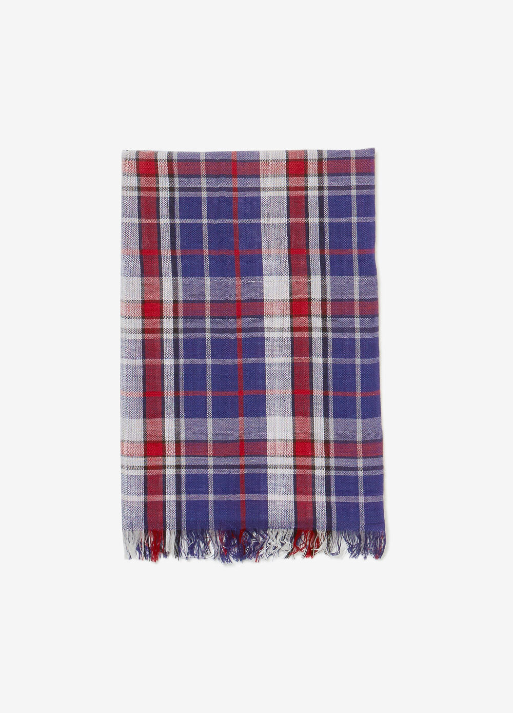 Pashmina with check fringe