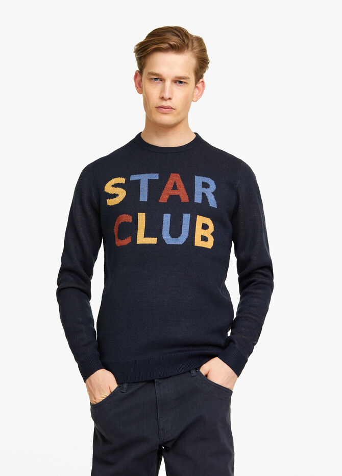 Knitted lettering pullover