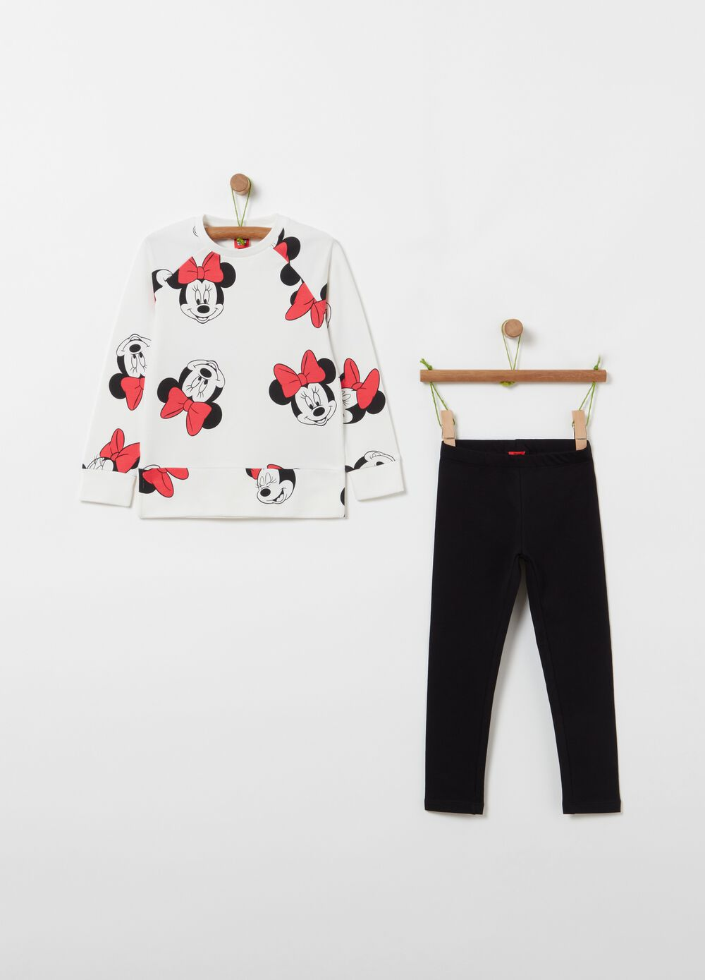 Minnie Mouse jogging set with sweatshirt and leggings