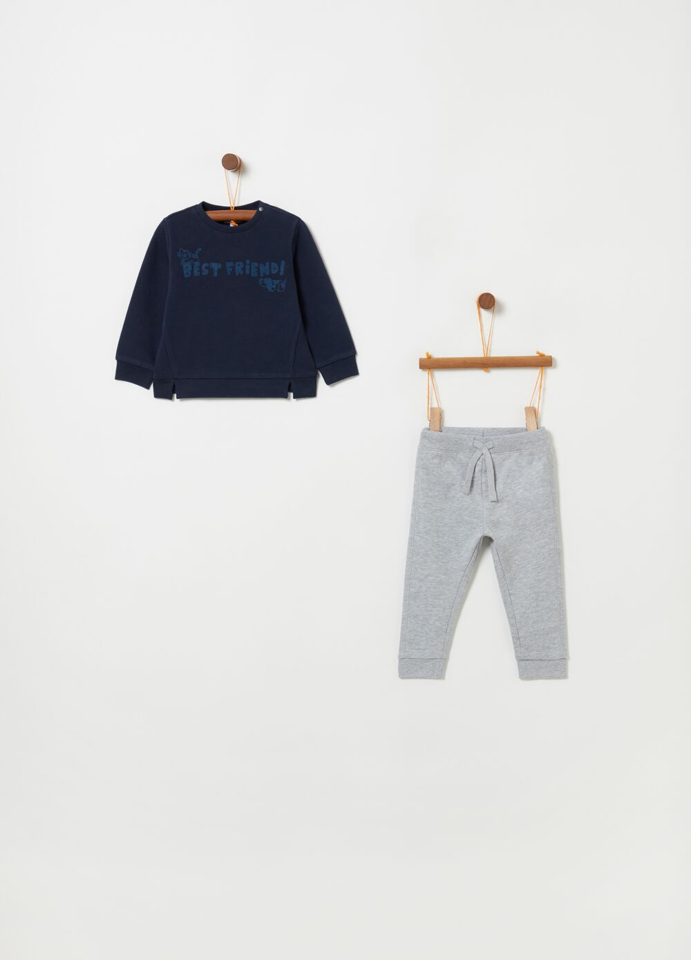 Jogging set in French Terry e stampa