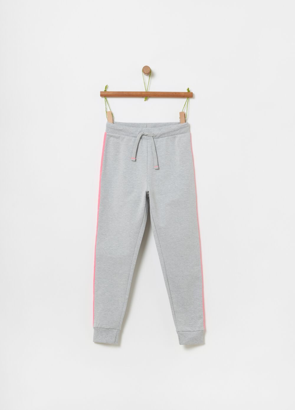 Organic cotton slub fleece joggers